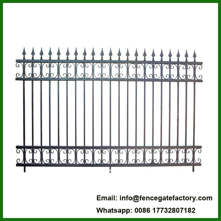 Powder Coated Used Wrought Iron Fencing For Sale Find Complete