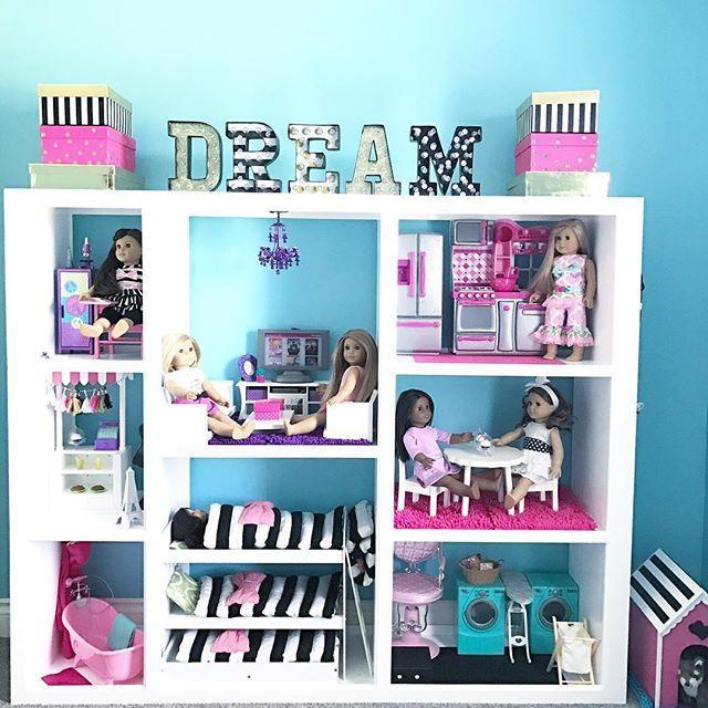 American Girl Doll House DIY - 18 Three Story Doll House