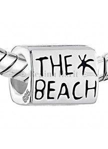 """""""The beach"""" a praia, berloque em prata maciça"""