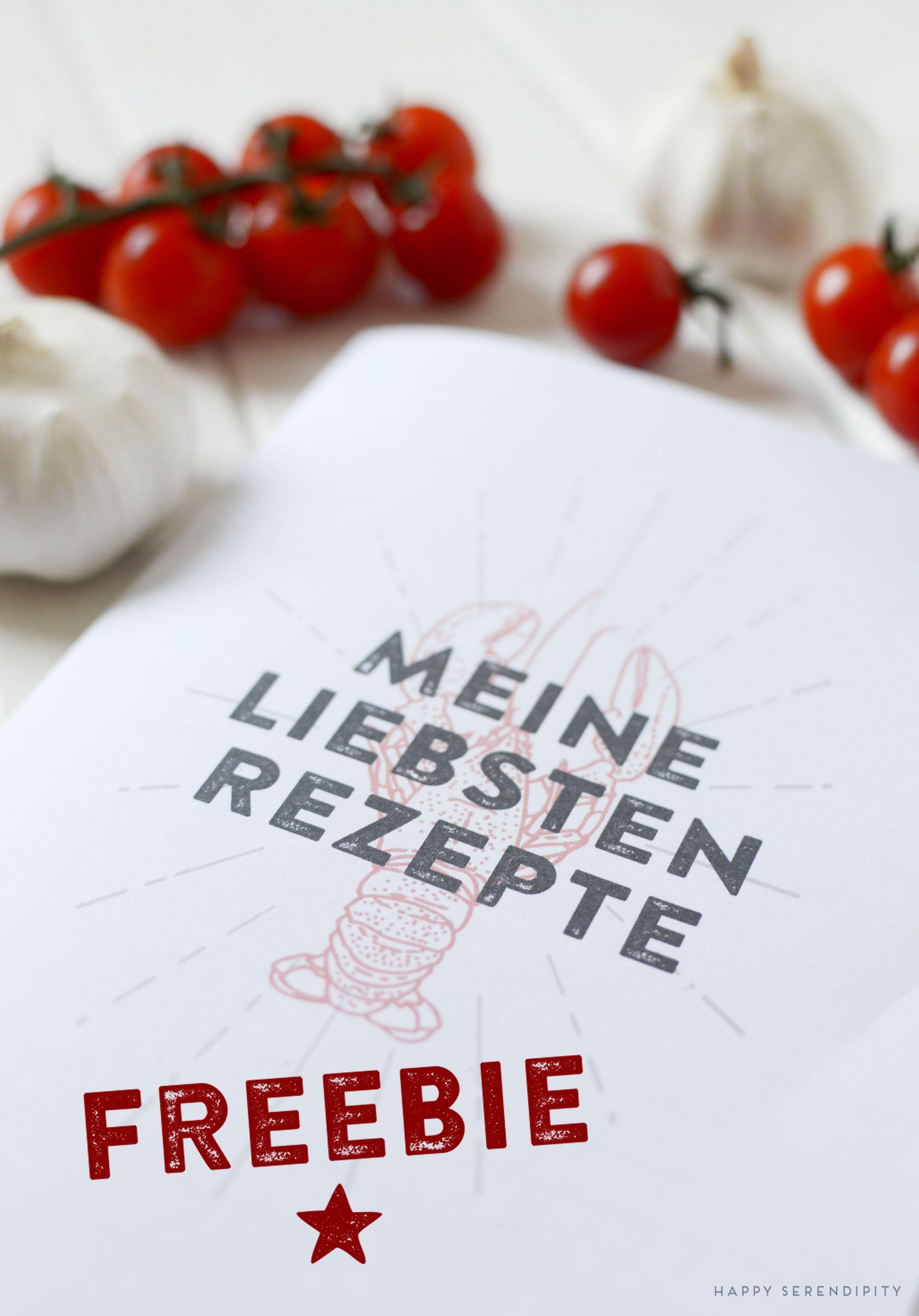 rezeptbuch freebie, kostenloses rezeptbuch zum ausdrucken, happy ...