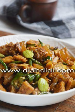 Diah Didi S Kitchen Oseng Kikil Dan Tempe Cabai Hijau Resep Masakan Indonesia Makan Malam Resep Masakan