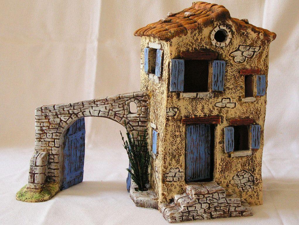 maison les santons de provence pinterest maisons cr che et santon. Black Bedroom Furniture Sets. Home Design Ideas