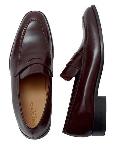 Oxblood Leather Penny Loafer Shoes Mens Dress Shoes Pinterest