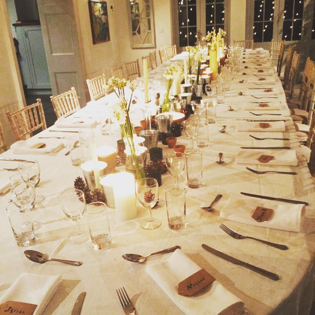 Dinner party from the weekend #cotswolds #birthdayparty