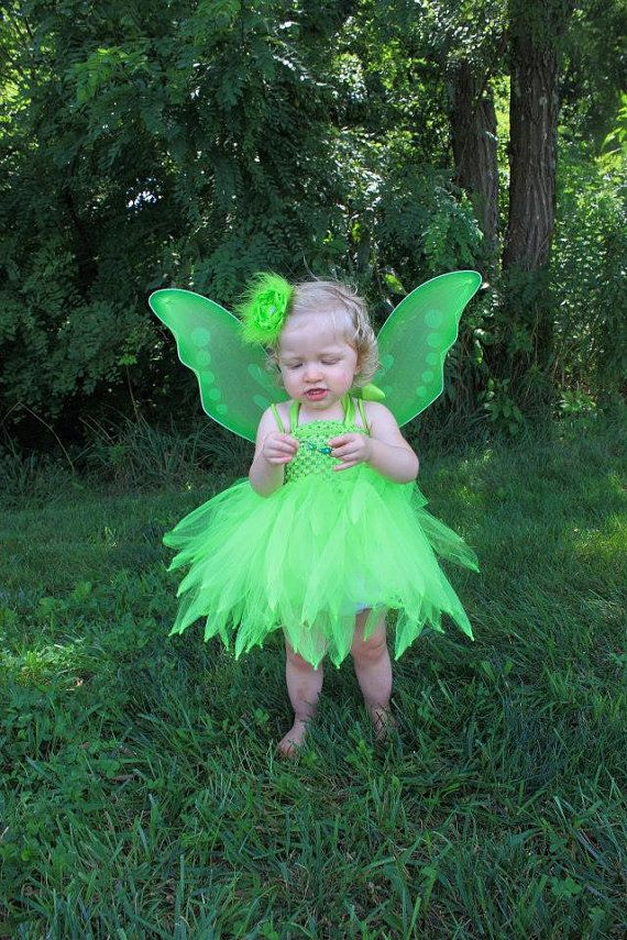 tinkerbell inspired tutu dress with wings and flower clip size 3t 4t 5t 6 7 tinkerbell costume
