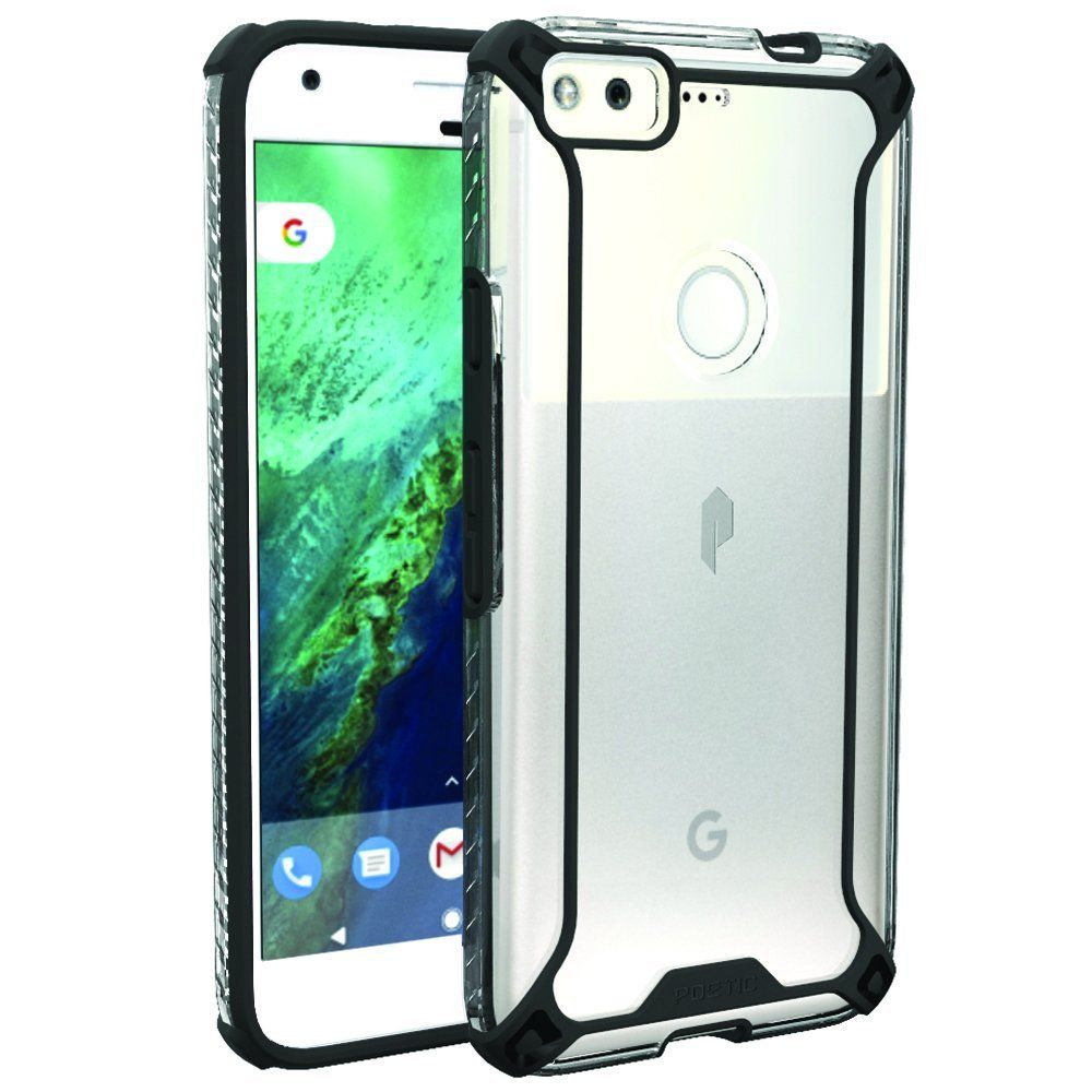 Google Pixel Case, POETIC Affinity Series Premium Thin/No Bulk/Slim fit/Clear/Dual material Protective Bumper Case for Google Pixel (2016) Black * To view further for this item, visit the image link.