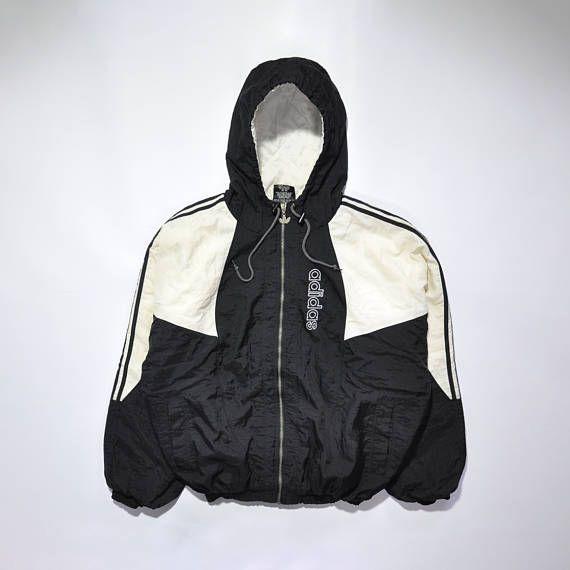 Vintage ADIDAS Hip Hop Bomber Coat Jacket Retro ADIDAS