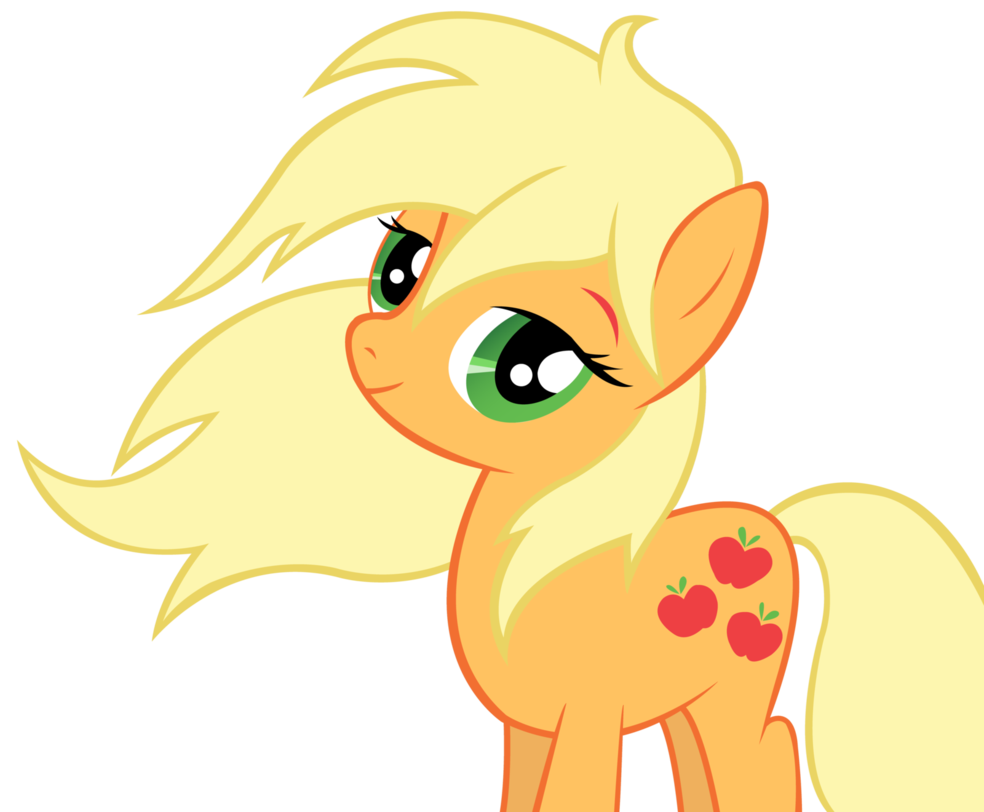 Applejack lets her hair down vector by ~wintrparkgrl | Because ...