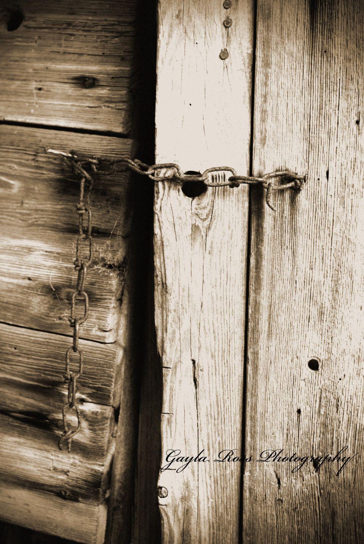 Barn Door Photography Rusty Chain Photo Rustic Photograph Rustic Wood Photography Old Boards Photo Abstract Phot Rustic Photographs Abstract Photos Country Art