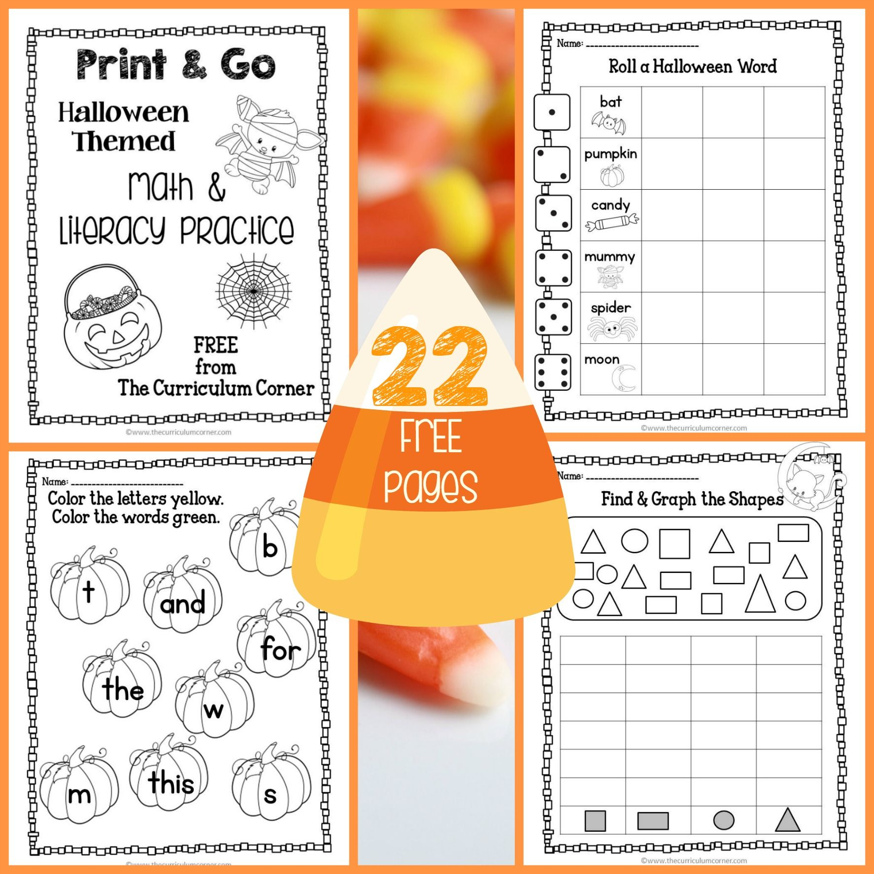 Use These Halloween Practice Pages For Quick Review Of