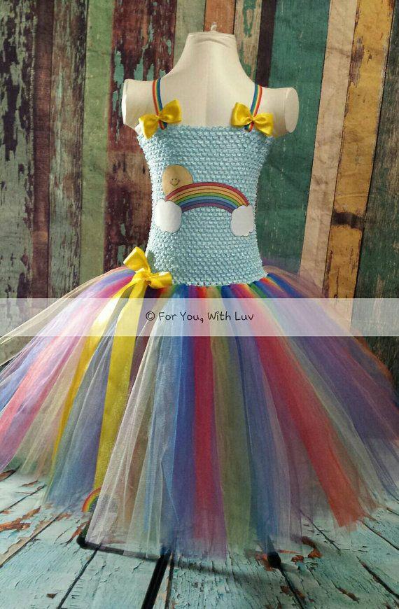 a11795e1c Tutú de la sonrisa del arco iris de vestir para por ForYouWithLuv