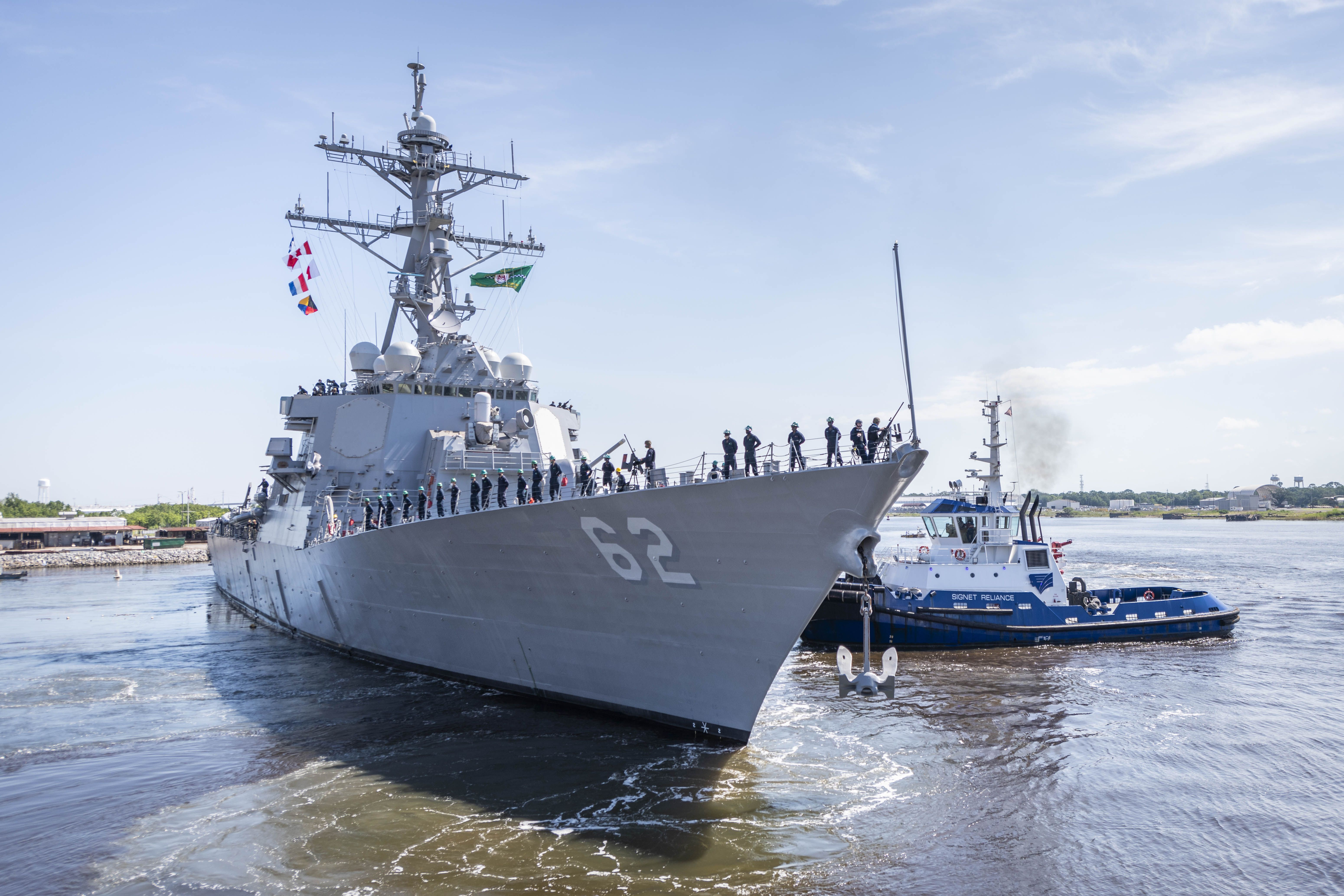 Uss Fitzgerald Leaves Ingalls Shipbuilding For New Homeport In San Diego 3 Years After Fatal Collision Usni News