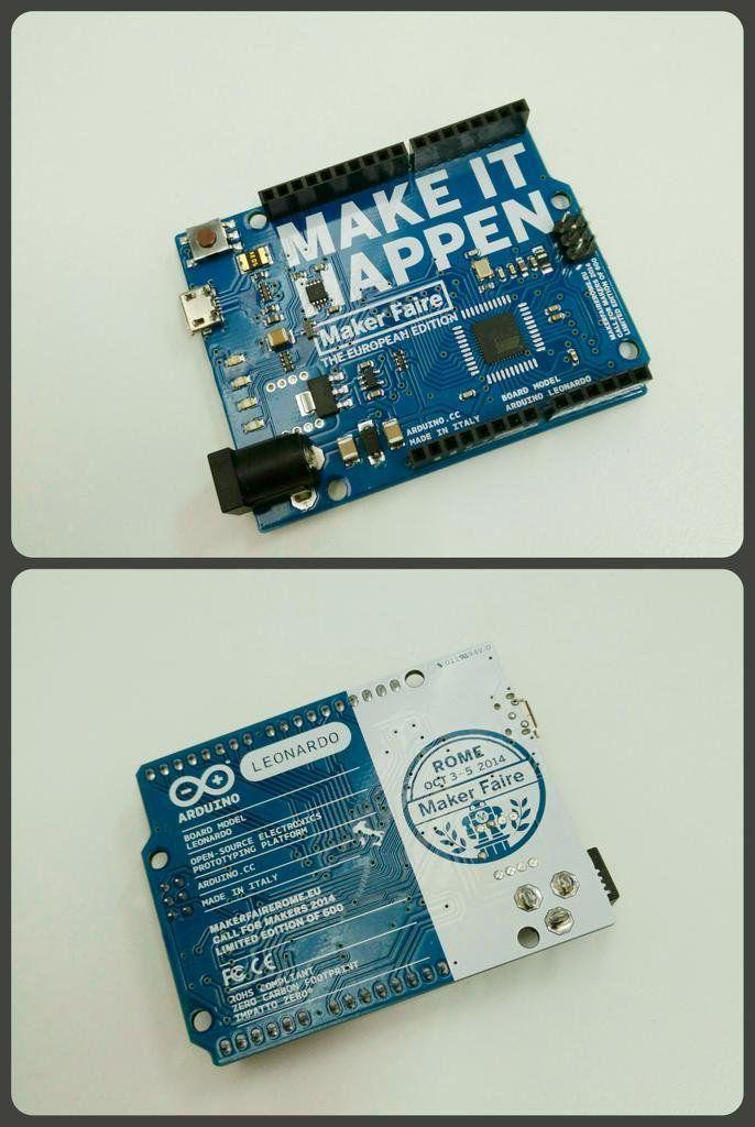 RT @L_ArtNinja: #artninja @CodemotionIT Ricordi dalla @MakerFaireRome @Arduino  #Leonardo Limited Edition #MFR14 http://t.co/IhB3ulLvg8 #enoyhecommunity