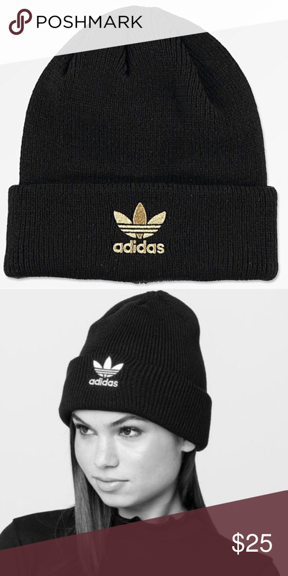 SALE!!!! Adidas Black   Gold Beanie Super cute women s fit beanie by ... e9a4d5a6145