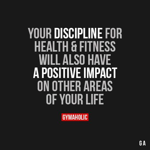 Your Discipline For Health And Fitness
