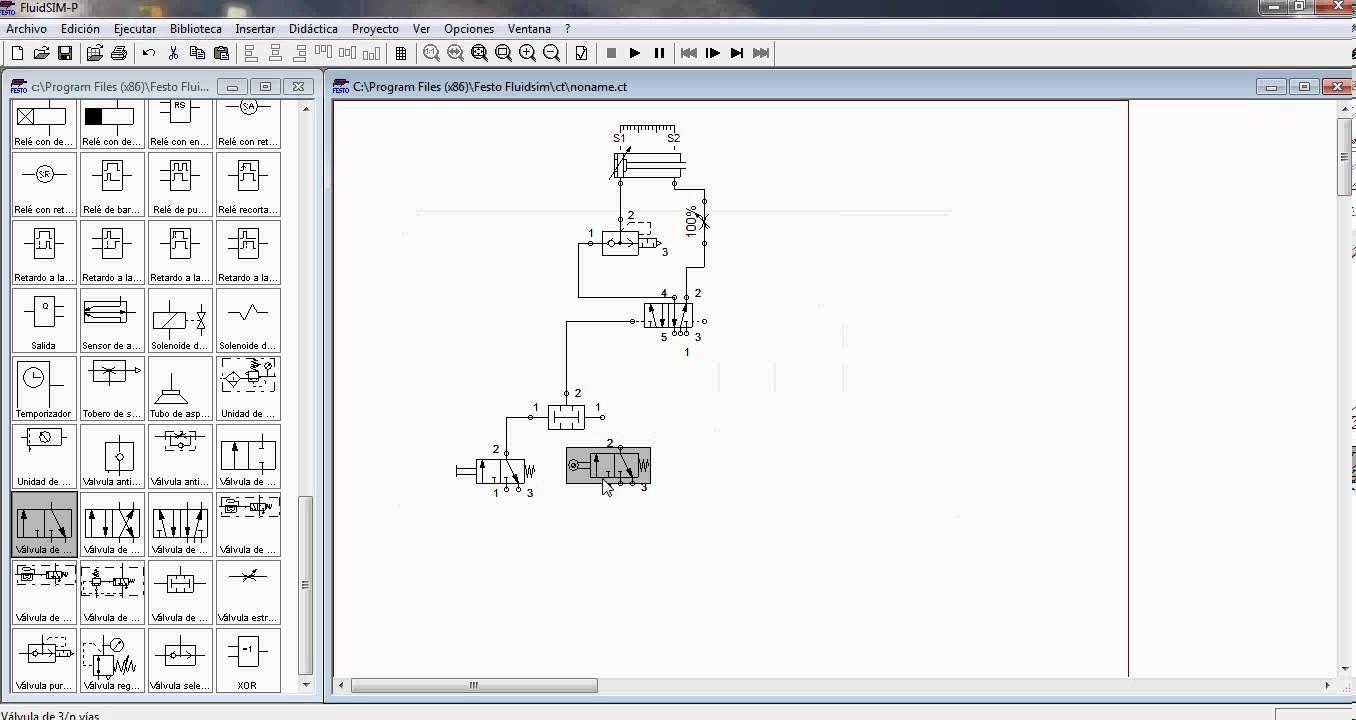 Circuito Neumatico Basico : Fluidsim 3.6 neumática parte 1 neumática pinterest neumaticos