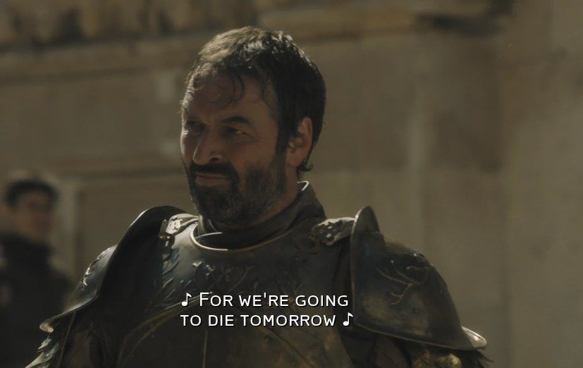 When Meryn Trant arrives in Braavos in Season 5, Mace Tyrell