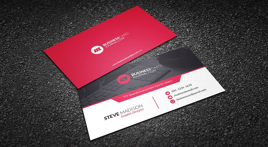 Free download httpbusinesscardjournalred hot contemporary free templates for business cards free corporate business card templates cheaphphosting Images