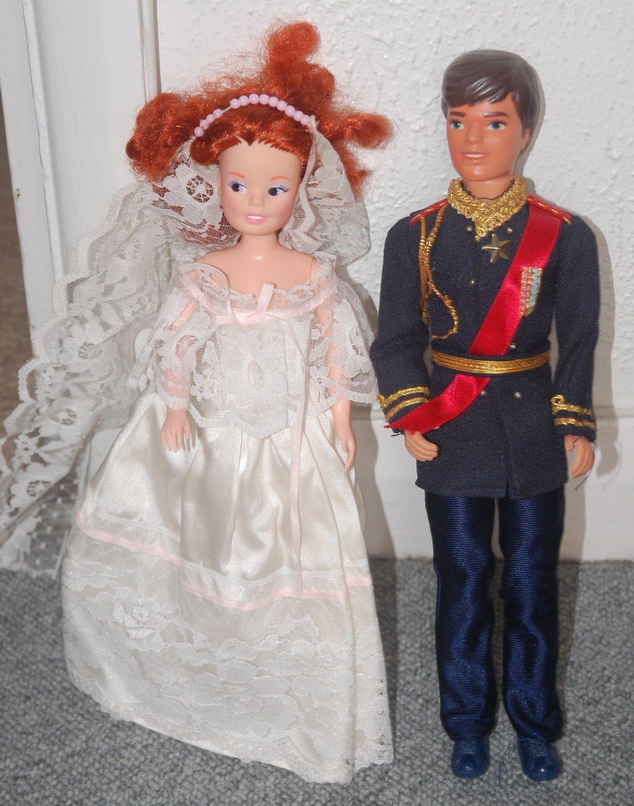 Prince Andrew & Fergie Wedding Day Sindy Dolls 1980s 10.35