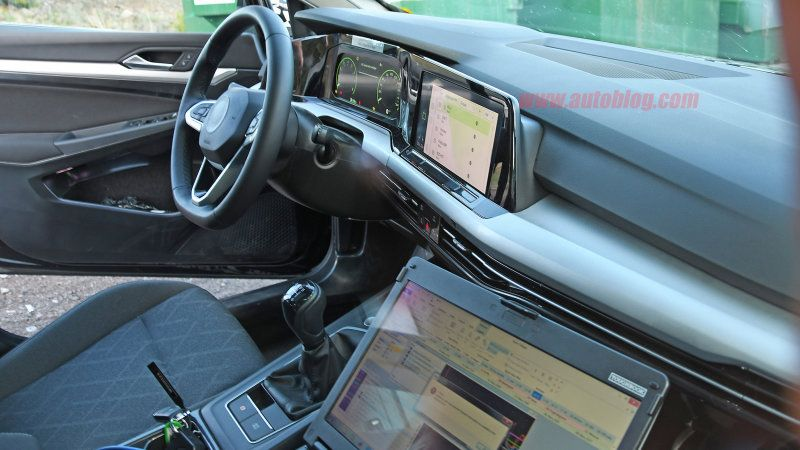 Here S A Clear Look At The Next Gen Golf S Minimalistic Interior Vw Golf New Golf Golf