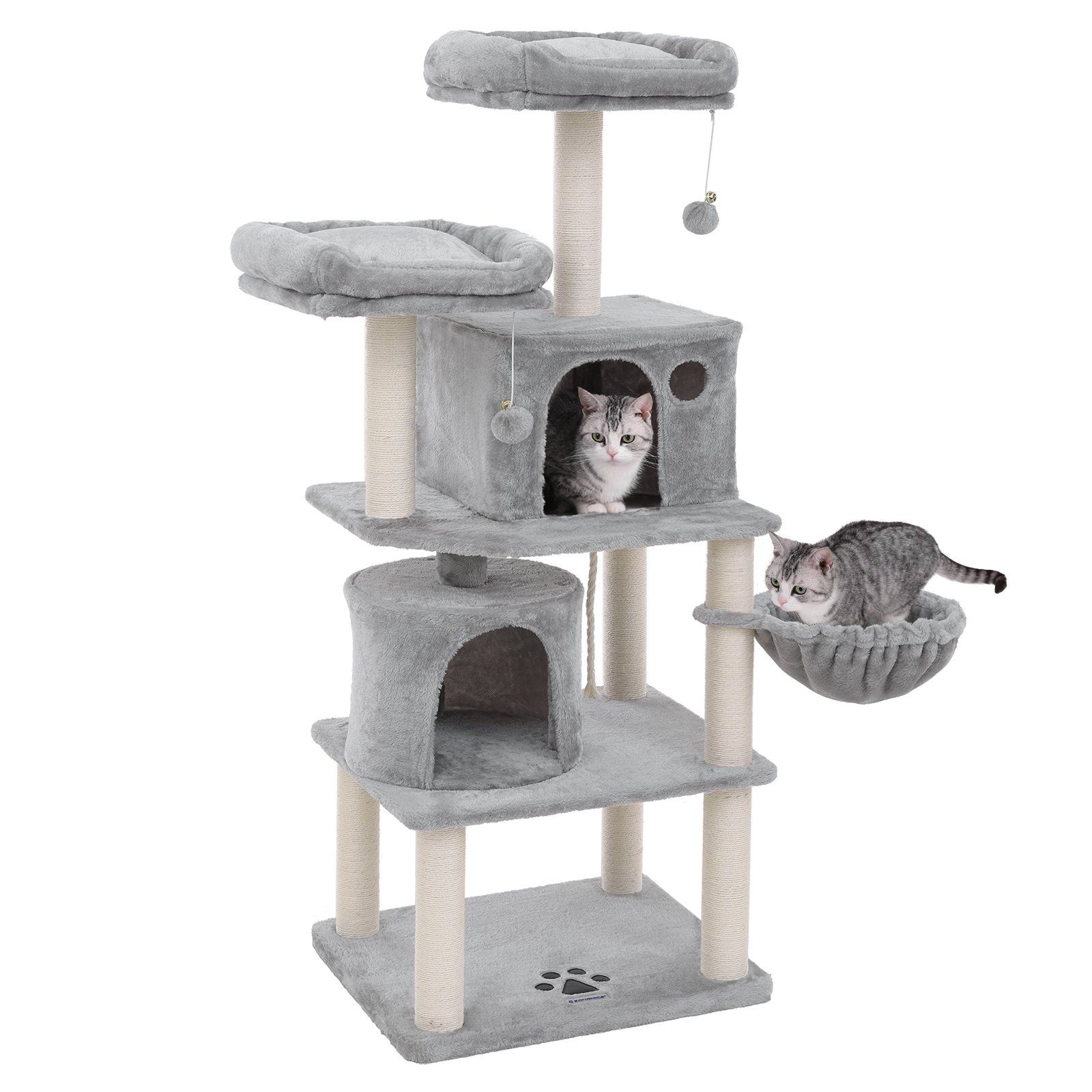 SONGMICS MultiLevel 60 Cat Tree with SisalCovered