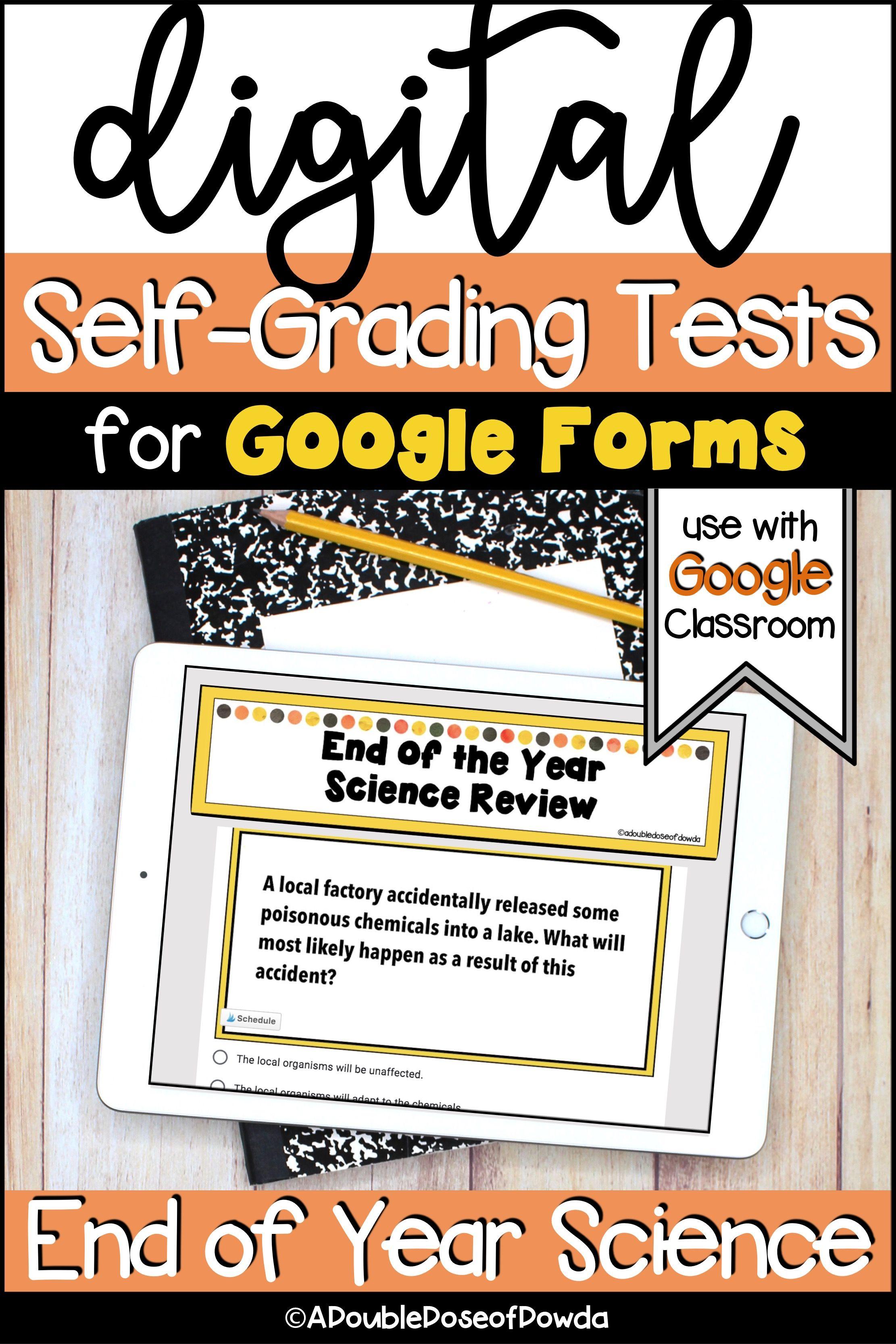 Science Digital Self Grading Review Test Prep for Google ...