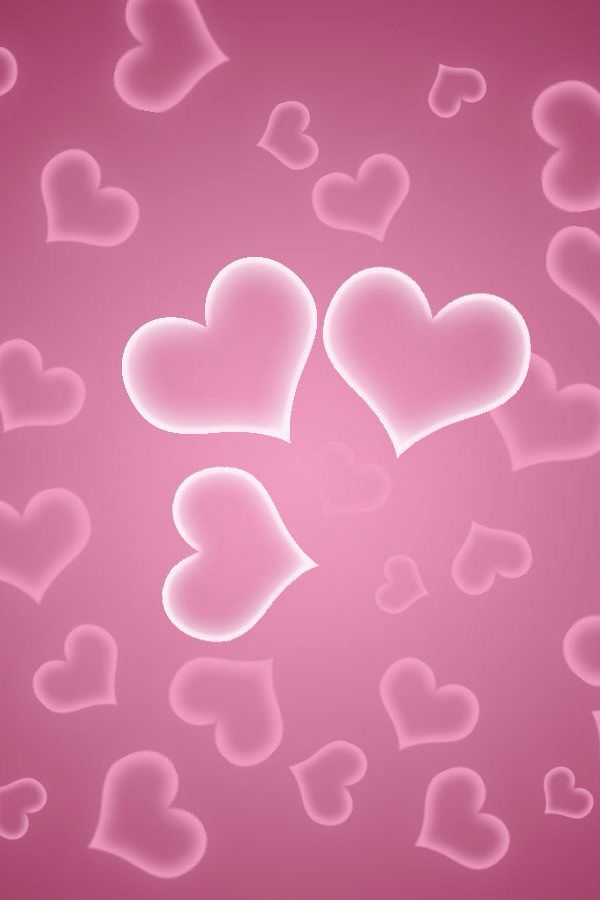 Hearts Pink Wallpaper Iphone Light Heart Love Wallpapers For Desktop