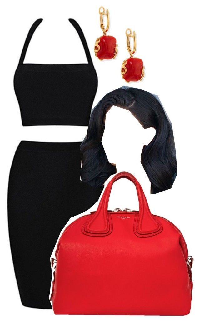 """""""Black and Red"""" by iamjamyah on Polyvore featuring Givenchy and Miseno"""