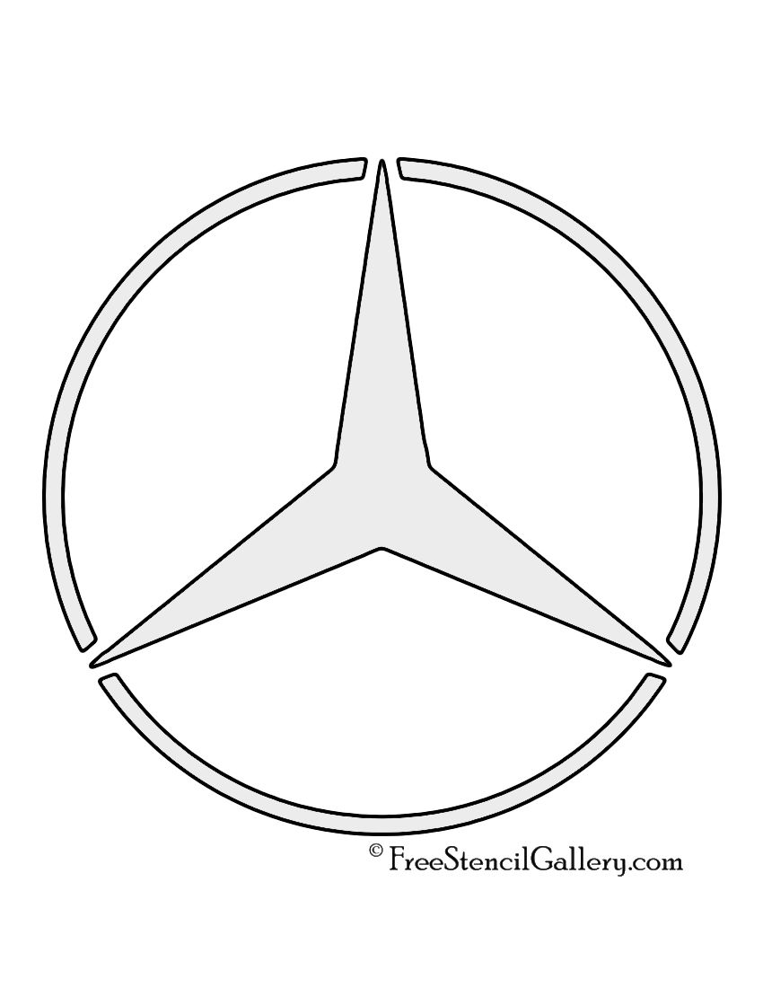 Mercedes Benz Logo Stencil Mercedes Benz Logo Benz Mercedes Benz