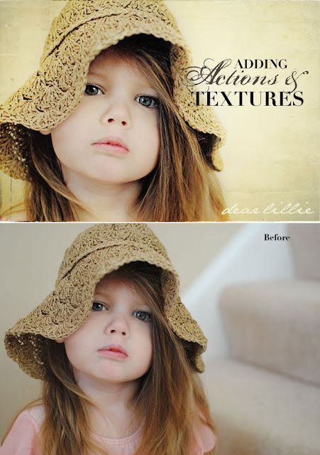 adding actions & textures tutorial from @Jennifer Holmes - Dear Lillie