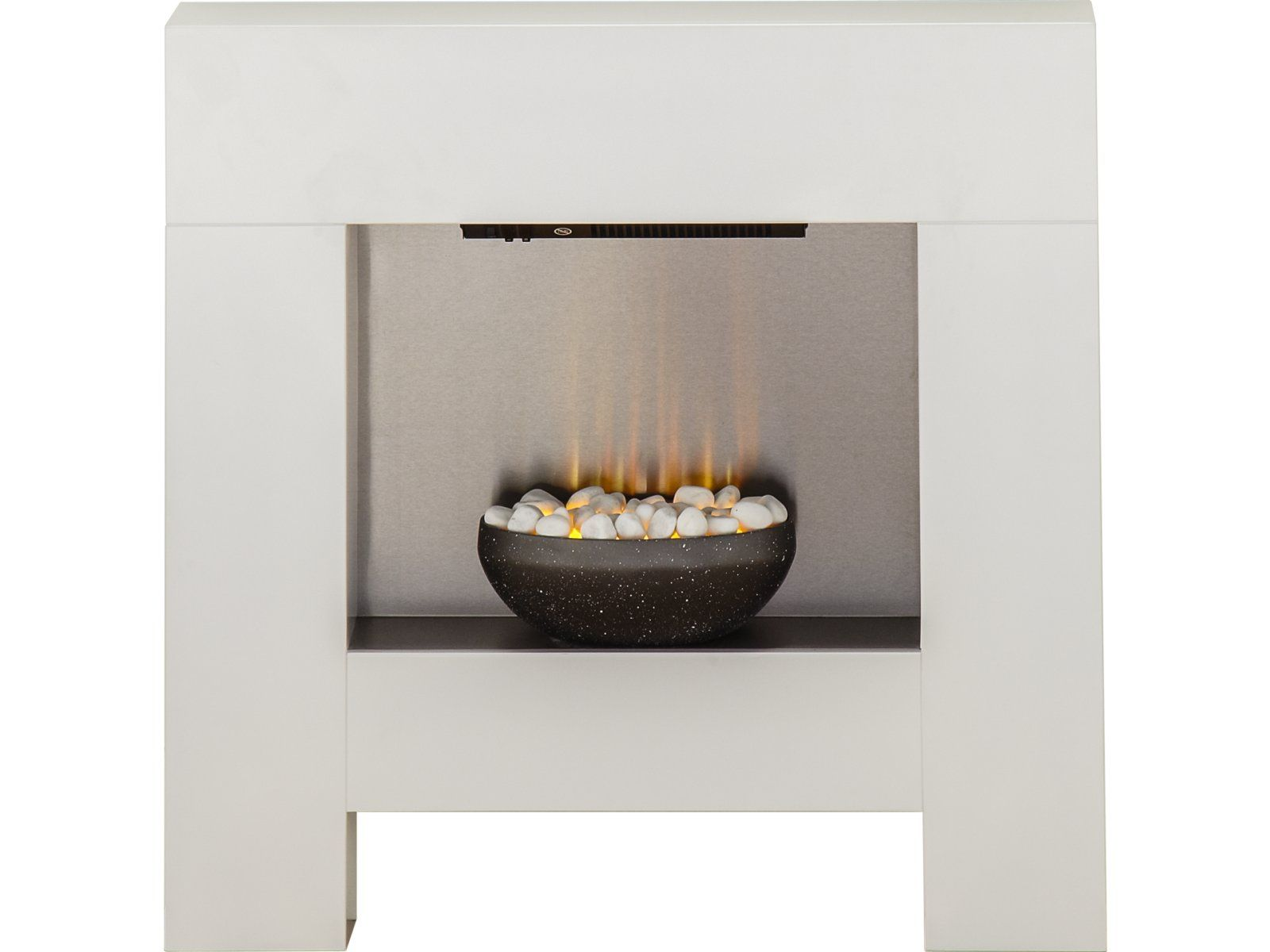 adam cubist fireplace suite in white with electric fire 36 inch