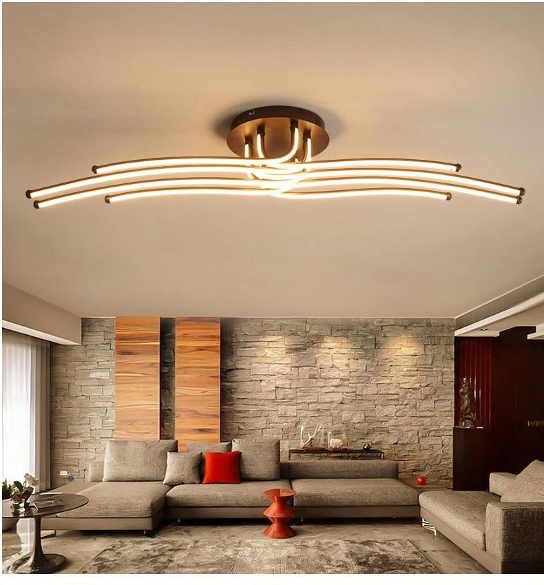 Modern Led Chandelier Aluminum Lights For Living Room Bedroom Home Ceiling Fixtures Lumi In 2021 Ceiling Lights Living Room Lamps Living Room Modern Led Ceiling Lights