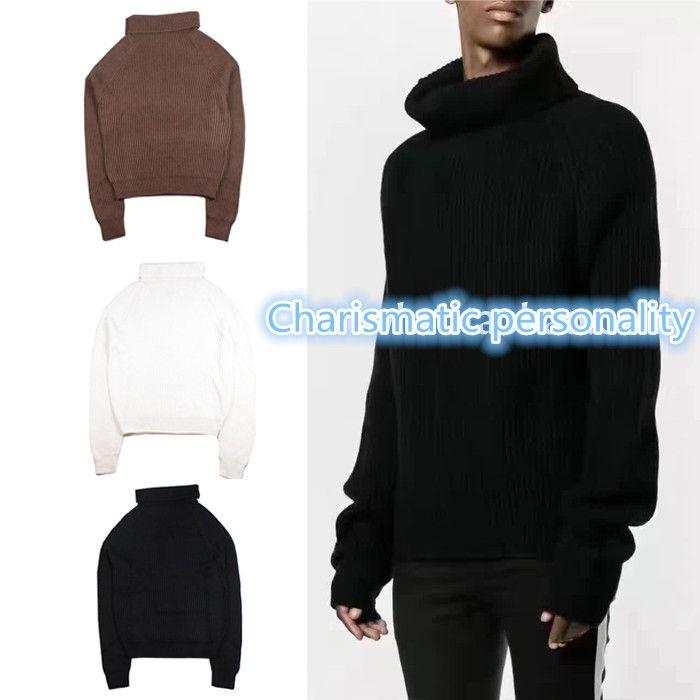 2017 TOP Best VersionWEST OVERSIZE Similar MEN wool sweater HIPHOP ...