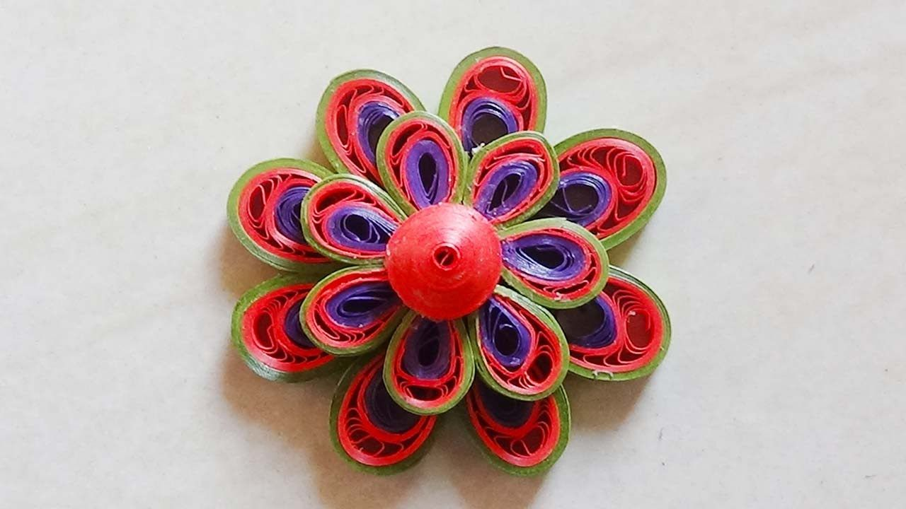 Paper Quilling How To Make Beautiful 3d Quilling Leaf Greenred