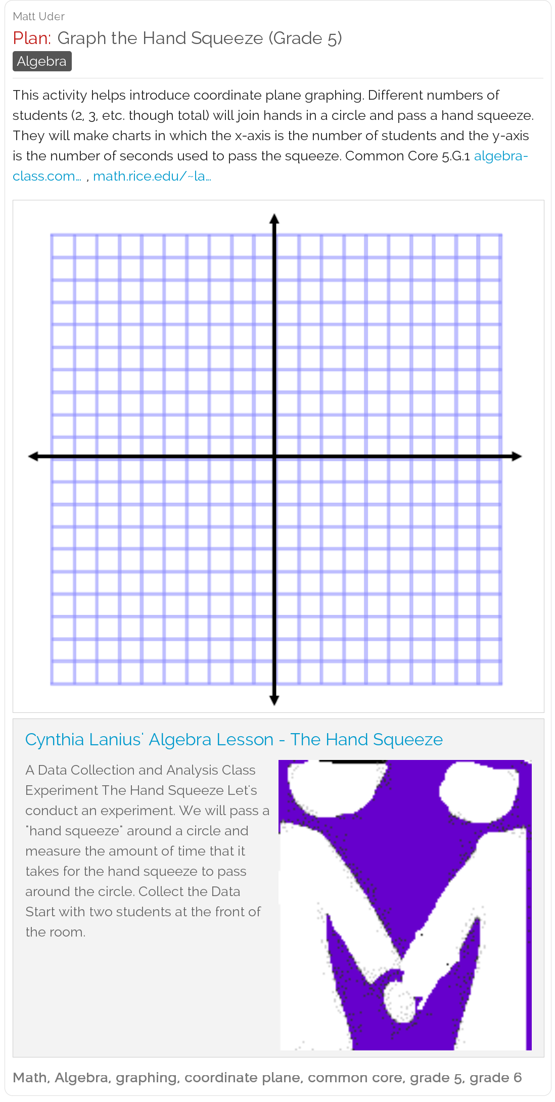 Graph the hand squeeze grade 5 this is an excellent fun free graph the hand squeeze grade 5 this is an excellent fun free math lesson plan from an instructor at rice university good for grades 4 and up to learn fandeluxe Gallery