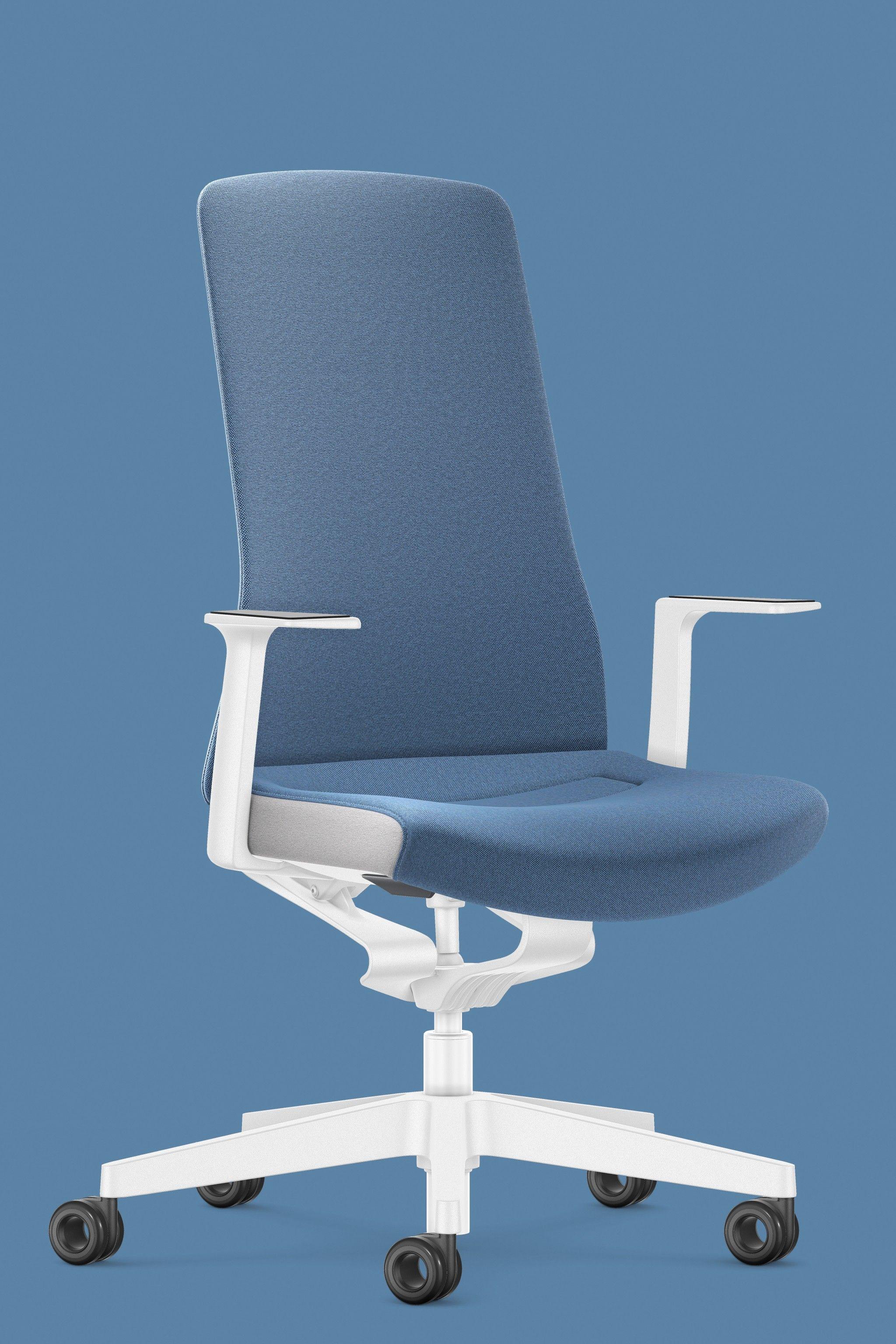 Schreibtischstuhl Blau Weiss Pure Interior Edition Burostuhl Von Interstuhl Burostuhl Home Office Ergonomisches Sitzen