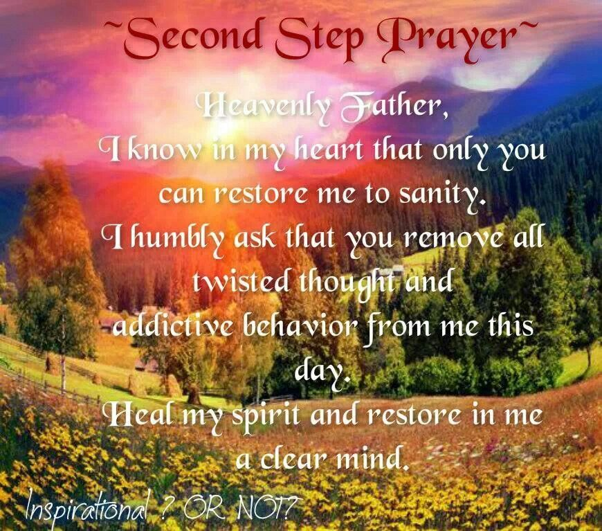 2nd Step Prayer Quotes Pinterest Sobriety, Recovery