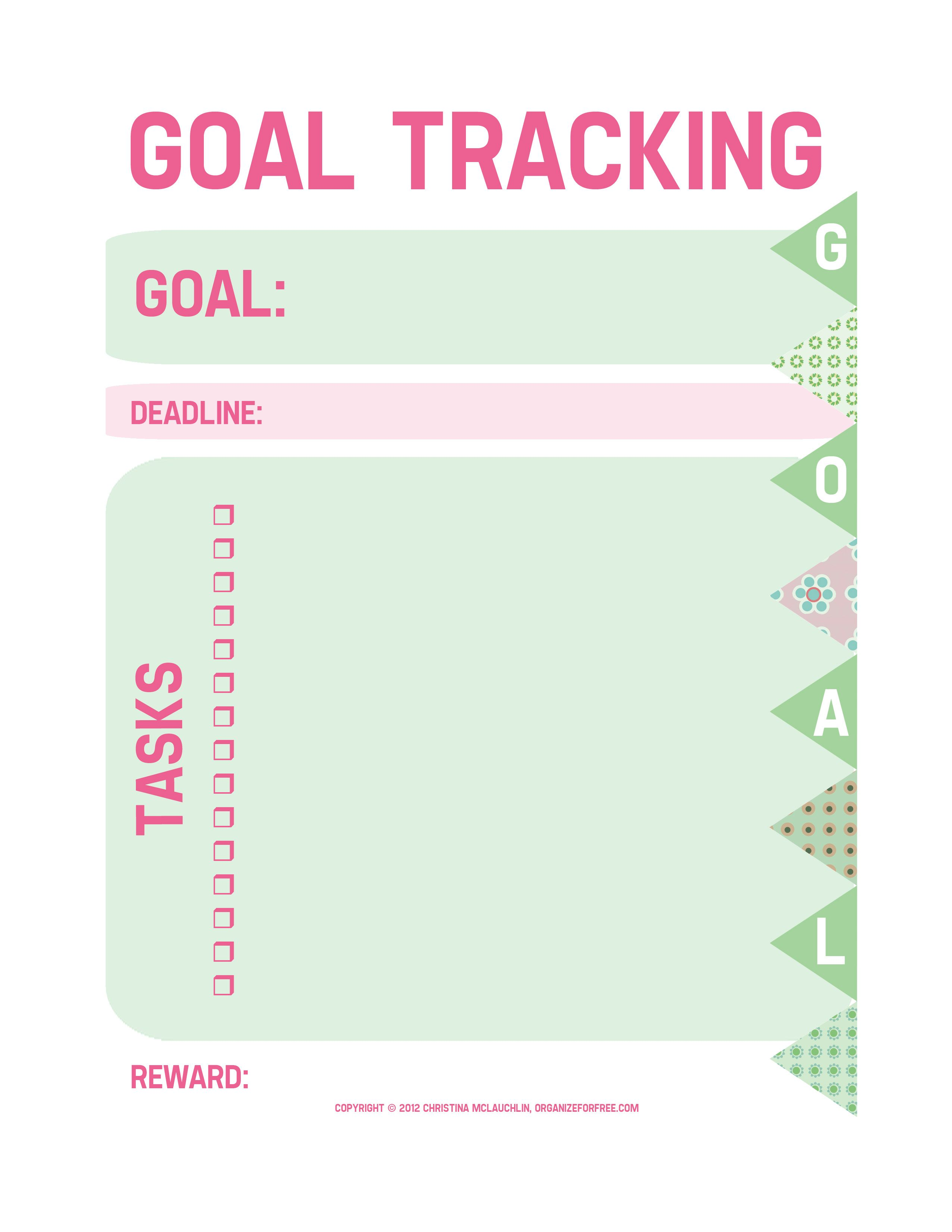 Goal Tracking Worksheet Copy