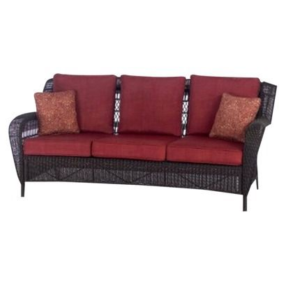 Terrific Madaga Wicker Patio 3 Person Sofa 425 29 Target For The Dailytribune Chair Design For Home Dailytribuneorg