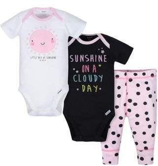 Baby Boy Girl Short Sleeve Bodysuits Sunshine ON Mind Toddler Jumpsuit