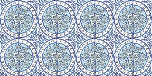 Old Blue wallpaper by Louise Body