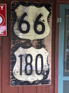 Route 66 180 Highway Sign Vintage Authentic From Tempe Arizona 48 H