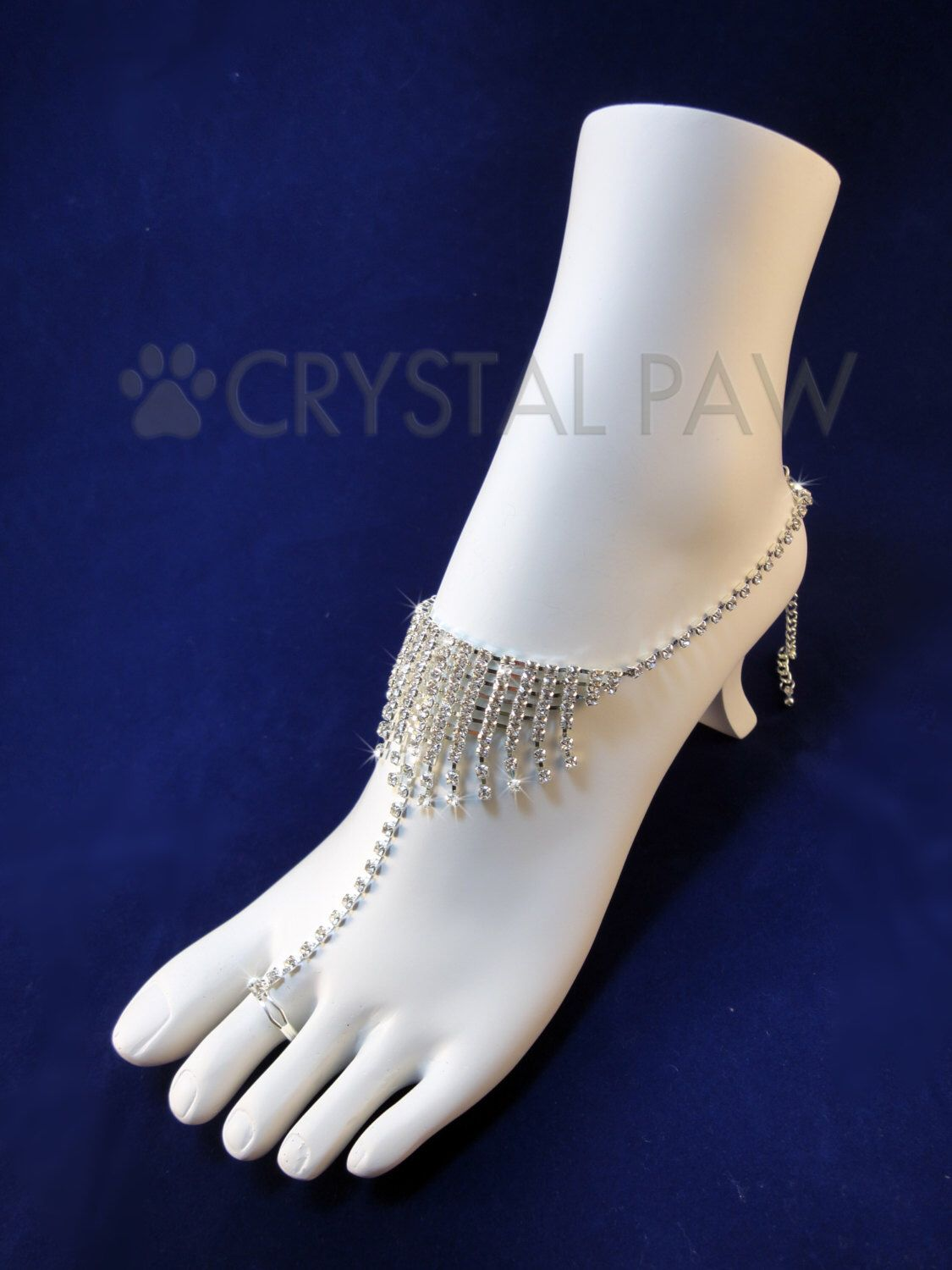 Crystal foot Jewelry Beach Wedding Accessory Barefoot Sandals
