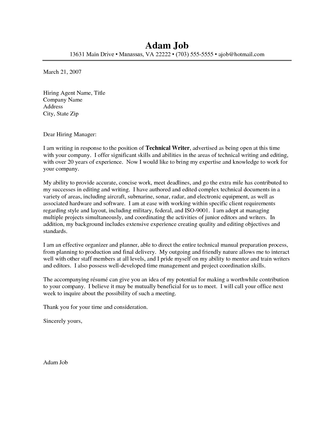 write cover letter sample letter format 2017