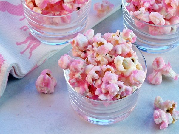 Pink Popcorn Great For The Guest To Take Home From A Girl Baby