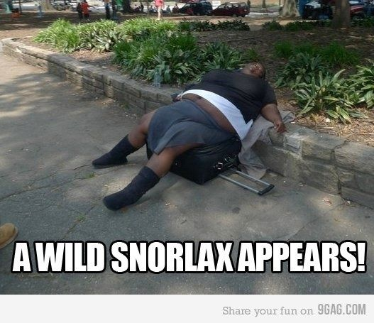 A wild Snorlax appears life