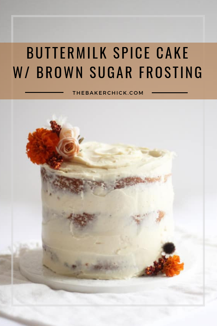 Buttermilk Spice Layer Cake With Brown Sugar Cream Cheese Frosting Recipe Food Spice Cake Eat