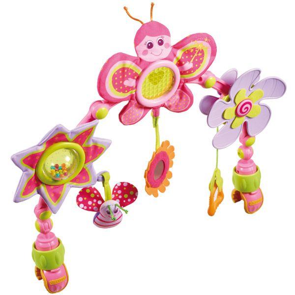 Arche articulée 'Tiny princesse' par Tiny Love  Que ce soit pour la nacelle, la poussette ou autre, des jeux roses et ludiques pour occuper bébé :)