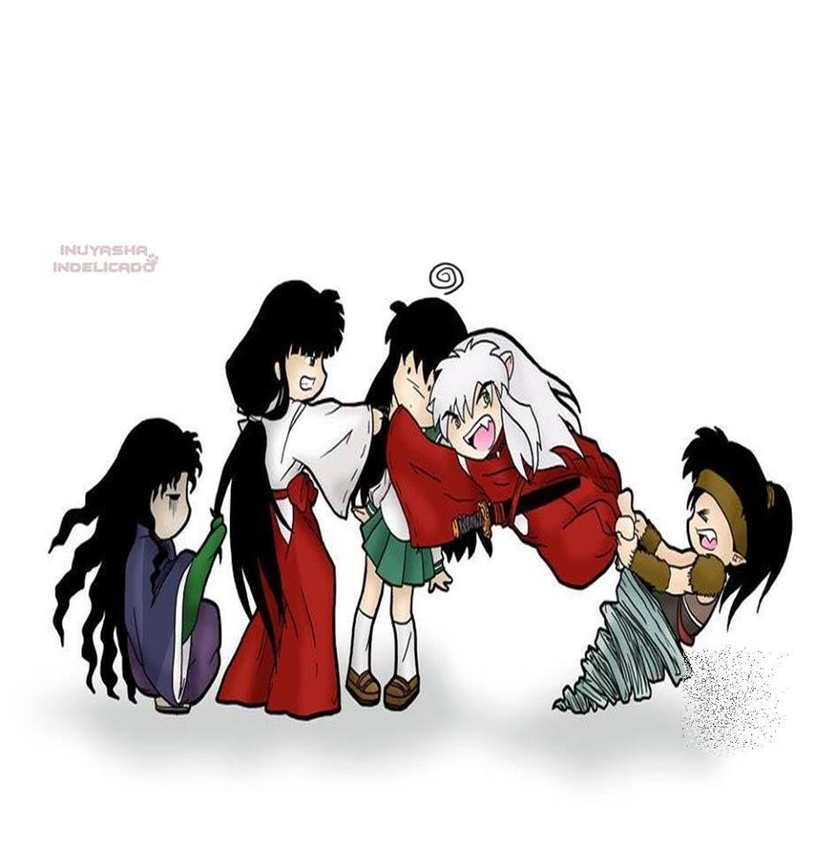 Lol exactly how the show is, naraku loved kikyo so broke her