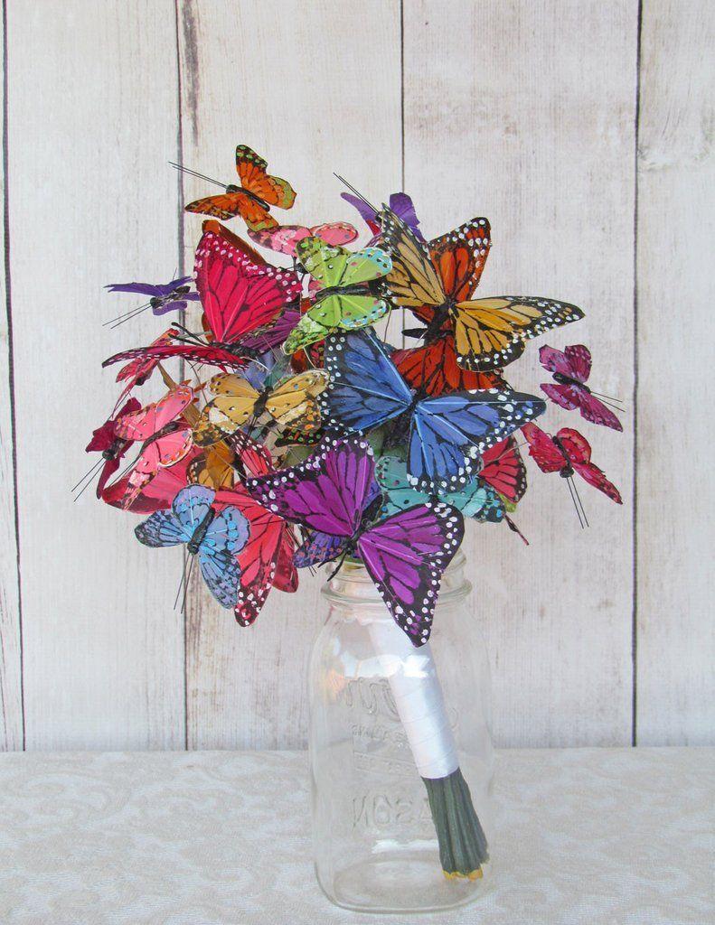 Butterfly Bouquet Wedding Flower Inspiration Bridal Bouquet